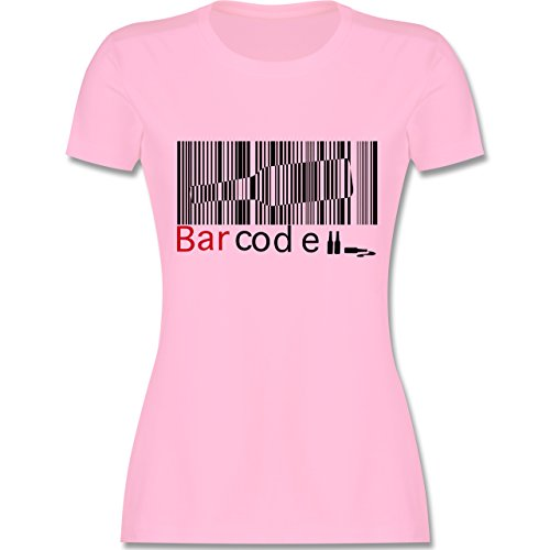 Sprüche - Barcode - tailliertes Premium T-Shirt mit Rundhalsausschnitt für Damen Rosa