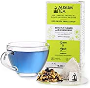 Ausum Tea Blue Pea Flower & Chamomile (15 teabags) - Herbal Tea, Flower