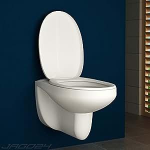 aquamarin cuvette wc suspendue fond plat avec abattant fermeture amortie. Black Bedroom Furniture Sets. Home Design Ideas