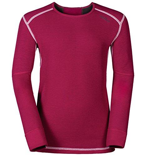 Odlo Kinder Shirt l/s Crew Neck X-WARM Unterhemden Lg.arm Ki, Sangria, 104 | 07613273943559