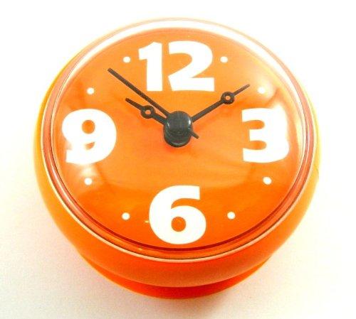 Quartz horloge salle de bain Room Window Bathroom Digital Clock With Suction Cup- Orange