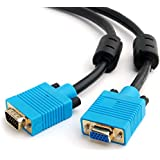 VGA/SVGA HD15Monitor Cable de extensión, Premium Calidad, todos los 15pines conectados, núcleos de ferrita)
