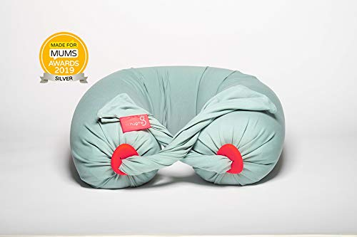 bbhugme® Schwangerschaftskissen TM, die preisgekrönte Schwangerschaft & Stillen & Ganzkörperunterstützung Mutterschaftskissen Eucalyptus/Coral