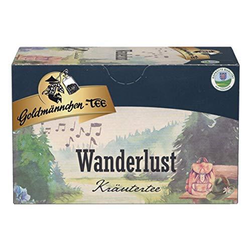 Goldmännchen Tee Wanderlust, Kräutertee, 20 einzeln versiegelte Teebeutel
