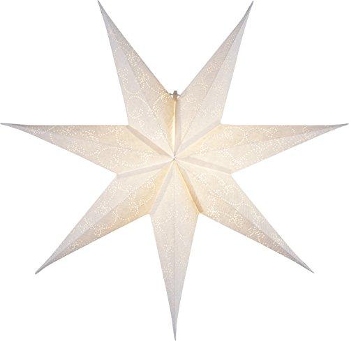 "Star Papierstern\""Decorus\"", 7 zackig, Papier, weiß, 1.5 x 6.3 x 6.3 cm"