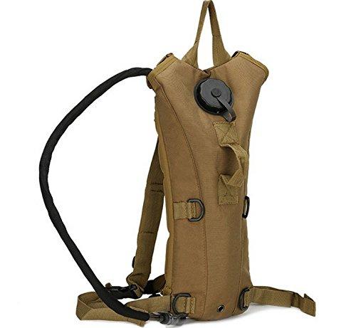 GOUQIN Outdoor Rucksack Klassische Mode Outdoor Radsport Kampagne Portable Wasser Wasser Taschen Khaki