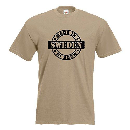 KIWISTAR - Made in Sweden T-Shirt in 15 verschiedenen Farben - Herren Funshirt bedruckt Design Sprüche Spruch Motive Oberteil Baumwolle Print Größe S M L XL XXL Khaki
