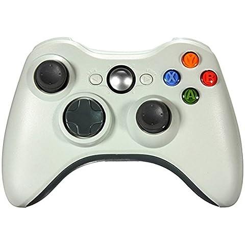 Althemax® Inalámbrico choque Joypad Juego Nuevo inalámbrico para Xbox 360 - Blanco