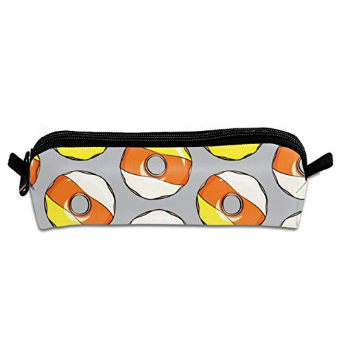 lloween Donuts Grey Student Polyester Double Zipper Pen Box Boys Girls Pencil Case Cosmetic Makeup Bag Pouch Stationery Office School Supplies 21 X 5.5 X 5 cm ()