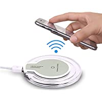 Aventus (White Wireless Pad) BlackBerry Priv Mini Stazione Caricabatterie Qi Wireless Pad Ultrasottile Con Anti-Slip Gomma