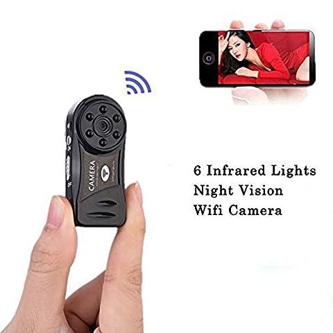 vipwind Mini caméra sans fil Wifi 720p HD vision nocturne infrarouge Secret Appareil photo sécurité Nanny Appareil photo Caméscope espia Candid IP hidde