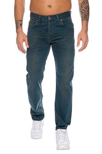 Lorenzo Loren Herren Jeans Hose Dirty-Wash Herrenjeans Denim Used-Look LL-325 W40 L32