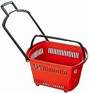 Bigapple BA-Basket42L Heavy Weight King Shopping Basket with Wheels, 42L Capacity