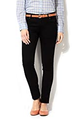 Van Heusen Women Regular Fit Pants_VWDN515L12044_34_Black