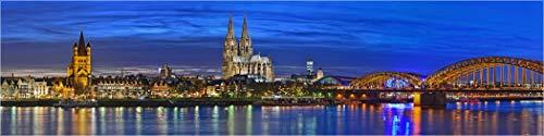 Bis 3 Meter Breite! XXXLPanorama Acrylglasbild, Köln Panorama Dom und Hohenzollernbrücke, Fineart Bild hochwertiges Wandbild, echter Fotoabzug Galerie Qualität Acrylglas auf Alu. Dibond©