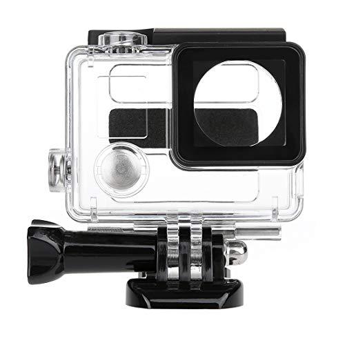 Schutzhülle, 2 in 1 wasserdichter Schutzgehäuse Fall Tauchbox + Externes Mini-Stereo-Mikrofon mit 17CM 3,5 mm zu Mini USB 10 Pin Adapterkabel für GoPro HELD 4 / 3+ / 3, Mikrofongröße: 5.5 * 5.5 * 1.5c -