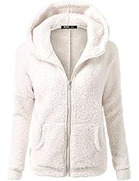 FNKDOR NUEVA capa del suéter con capucha de las mujeres Abrigo de la cremallera de la lana caliente del invierno Capa del algodón Outwear