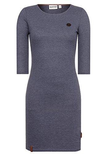 Naketano Female Dress Why Do We Fall Indigo Blue Melange, XL (Fall Schlauch)