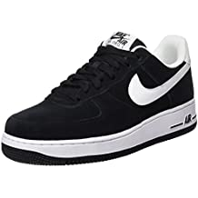 Nike Air Force One Negras Con Cafe