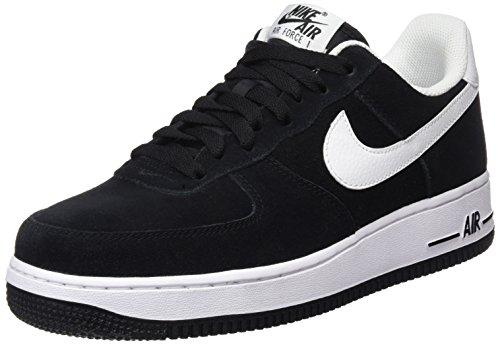 Nike Herren Air Force 1 07 Sneakers Schwarz (Black / White)