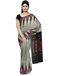 Odisha Handloom Gopalpuri Cotton Saree (Grey)