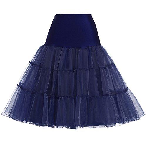 Elastisch Und Bund Ist Der Kostüm - 50s Vintage Unterrock für Rockabilly Kleid 1950s Petticoat Reifrock Crinoline Underskirt XL CL8922-8