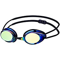 Vorgee Missile Eclipse Metallic Mirrored Lens Swimming Goggles, Black, One Size