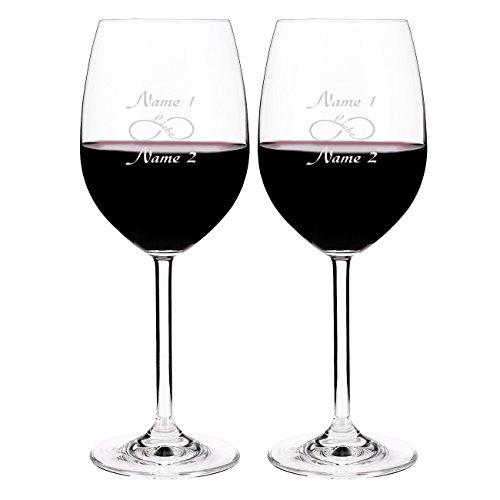 Leonardo 2 Weingläser für Liebende - Endless Love - mit Gratis Gravur der Namen