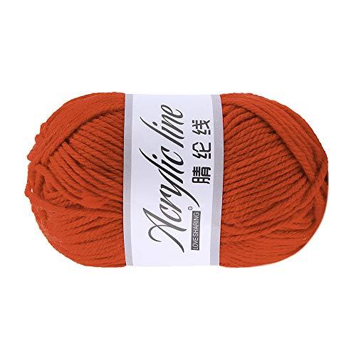 Wawer Häkelgarn 50g Acrylwolle Baumwolle Umherziehen Schal Handstrickgarn Wolle Garn Dicke warme Hut Haushalt für Häkeln und Kunsthandwerk (J) -