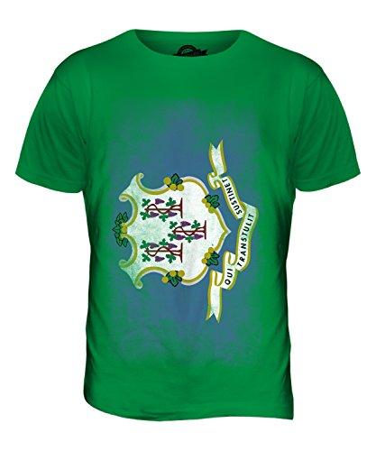 CandyMix Bundesstaat Connecticut Verblichen Flagge Herren T Shirt Grün