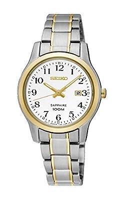 Seiko Reloj Analógico para Mujer de Cuarzo con Correa en Acero Inoxidable SXDG90P1