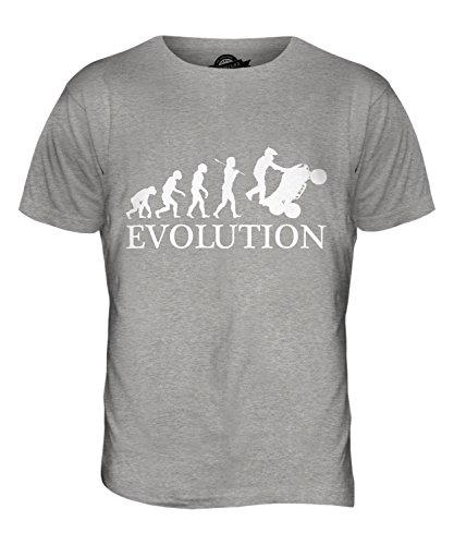 CandyMix Atv Quad Evolution Des Menschen Herren T Shirt Grau Meliert