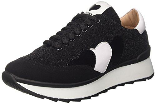 Twin Set CA7PK3, Sneaker a Collo Basso Donna, Nero, 41 EU