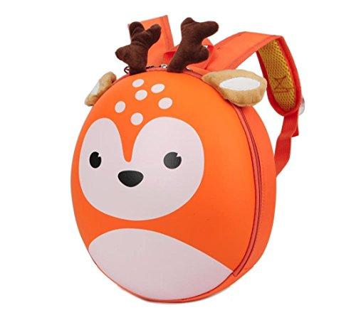 sunnymi Weihnachten Geschenk Unisex★Kinder Rucksack★Mini Backpack Mädchen Jungen/Hirsch Muster/Schule Baby-Kindergarten Hartschale/Kinder Gartentasche (Niedliche Jährige Kostüme Für Zwei)