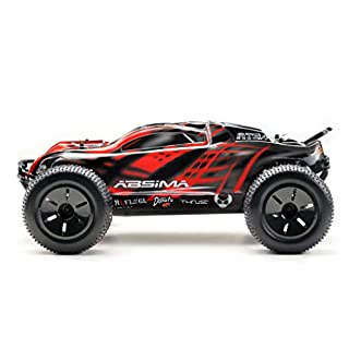 Absima Hot Shot Absima 1:10 RC Model Car AT3.4 Truggy Brushed Electric Drive 2.4 GHz Remote Control and 4x4 RTR (Red/Grey/Black)