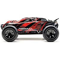 Absima Hot Shot Absima 1:10 RC Modellauto AT3.4 Truggy mit Brushed Elektroantrieb, 2,4 GHz Fernsteuerung und Allradantrieb RTR inkl. Akku und Ladegerät, Rot, Grau, Schwarz