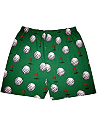 Mens 1 Pair Magic Boxer Shorts In Golf Pattern - Extra Large - Green