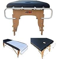 H-ROOT Soporte de rollo de papel para mesas de masaje, soporta rollos de papel de 50cm a 100cm.