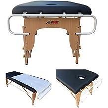 H-ROOT Porta Rotolo per Lettino di Massagio Portarotolo Carta Rullo per Lettini di Massaggio Contiene i Rotoli di Carta da 50 cm a 100 cm.