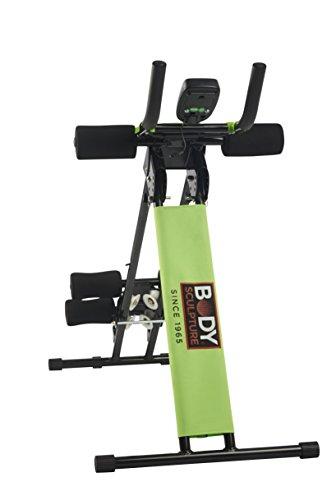 ORIGINAL BODY SCULPTURE EASY SLIDER Bauchtrainer und Rückentrainer, faltbarer AB-Trainer ideal für Zuhause  - Computer mit Kalorienverbrauch Anz. Übungen Zeit - AB-Trimmer 4fach verstellbar preisvergleich