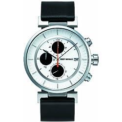 Issey Miyake Unisex-Armbanduhr W Chronograph leder schwarz SILAY003