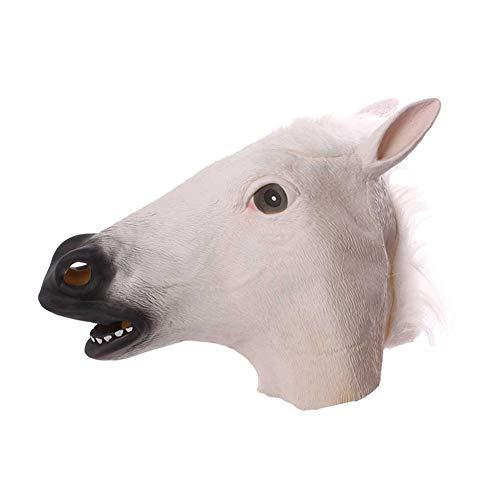BONNIO Neuheit Halloween Kostüm Latex Tierkopf Maske Pferd Caps Erwachsene Kinder Maskerade Party Cosplay (Caps Billig Ball)