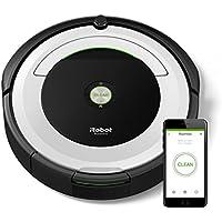 iRobot Roomba 691 Saugroboter (hohe Reinigungsleistung mit Dirt Detect, für alle Böden, geeignet bei Tierhaaren, WLAN-fähig) weiß