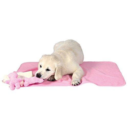 Trixie 15587 Welpen-Set mit Decke, Spielzeug und Handtuch, rosa -
