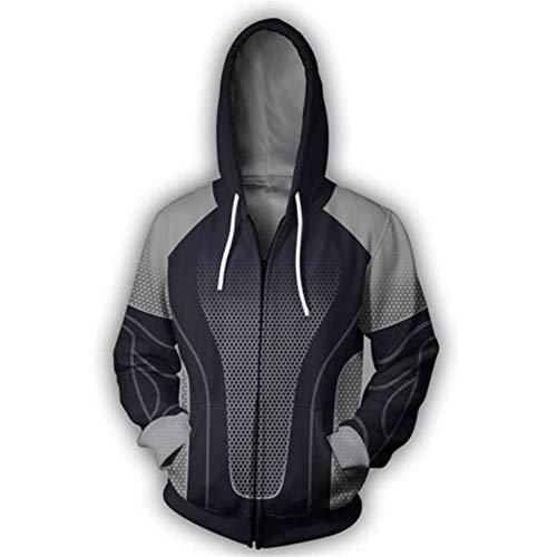 (RJHWY 3D Hoodie Sweatshirt Unisex Pullover Kapuzenjacke Kleidung Mantel Reißverschluss The Hunger Games M)
