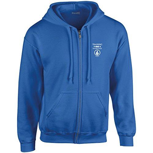 Brand88 - Training To Join Dauntless Felpa con cappuccio con zip Blu reale/Bianca