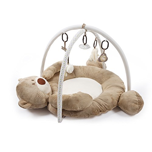 JYSPORT Baby Spieldecke Spielbögen Activity Gym Krabbeldecke animal Plush Spielzeuge Matte (Brown bear)