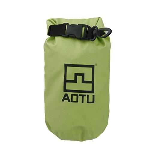 1.5l Wasserdichte Packsack Beutel Für Camping Bootfahren Angeln Rafting Grün (Kajak Trinken Zubehör)
