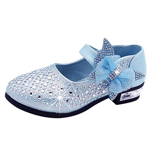 ShaDiao Kleinkind Schuhe Kinderschuhe Mädchen Kristall einzelne Schuhe Ballerinas Schuhe Lederschuhe MädchenPrinzessin Schuhe -