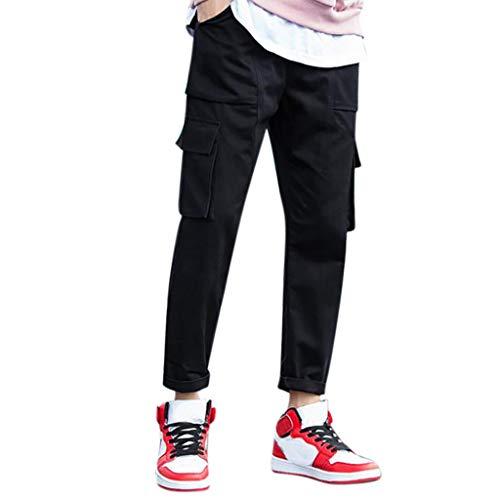WQIANGHZI Pants Herren Stoffhose de Travail Homme Cargohose Homme Jogginghose Loose Fit Coupe Droite Lin Coton Sport+ Casual Danse Sportwear Arbeitshose Pantalon de Sport Coupe Jersey